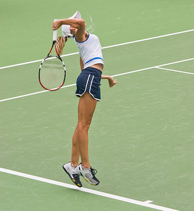 Image of Tennis player serving