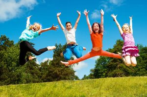Children Jumping Image